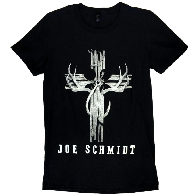 Joe Schmidt Black Tee- Cross Design
